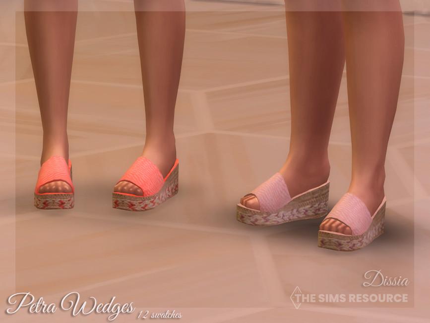 Обувь Petra Wedges Симс 4