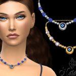 Ожерелье Evil Eye Beaded Necklace Симс 4