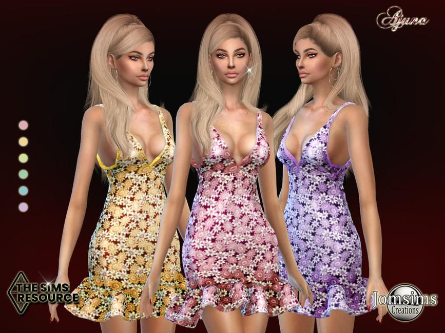 Платье Ajuna Dress Симс 4