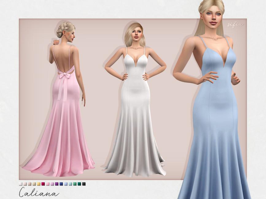 Платье Caliana Dress Симс 4