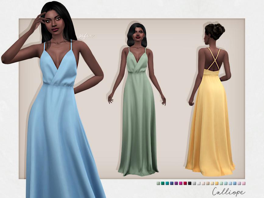 Платье Calliope Dress Симс 4
