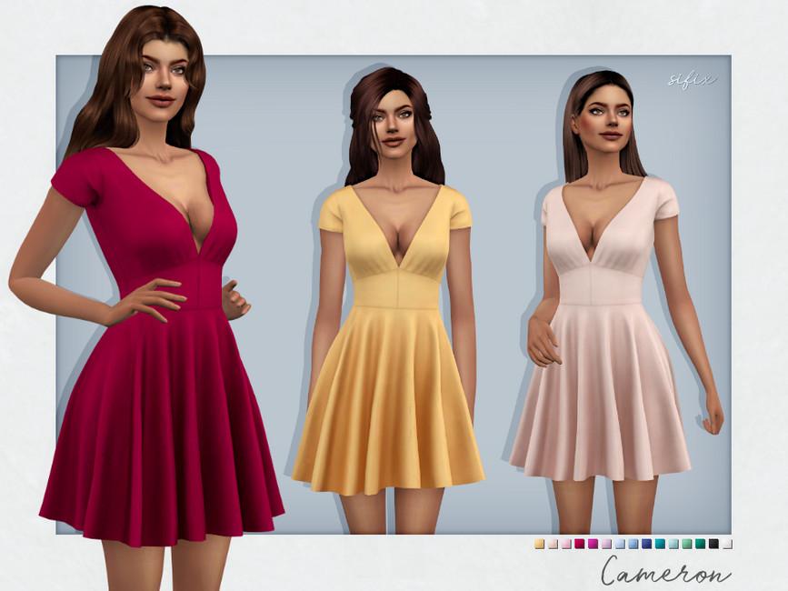 Платье Cameron Dress Симс 4