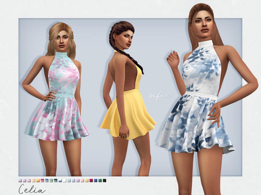Платье Celia Dress Симс 4