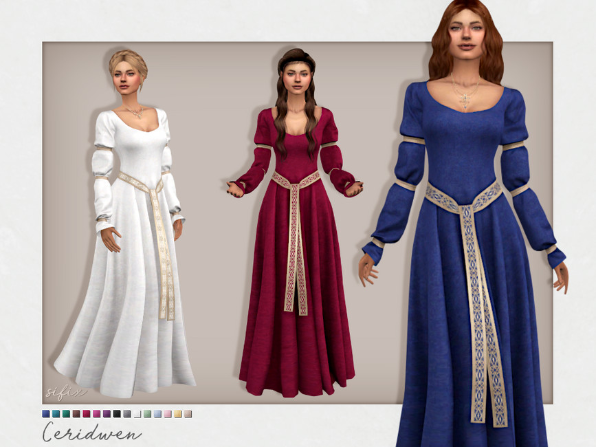 Платье Ceridwen Dress Симс 4