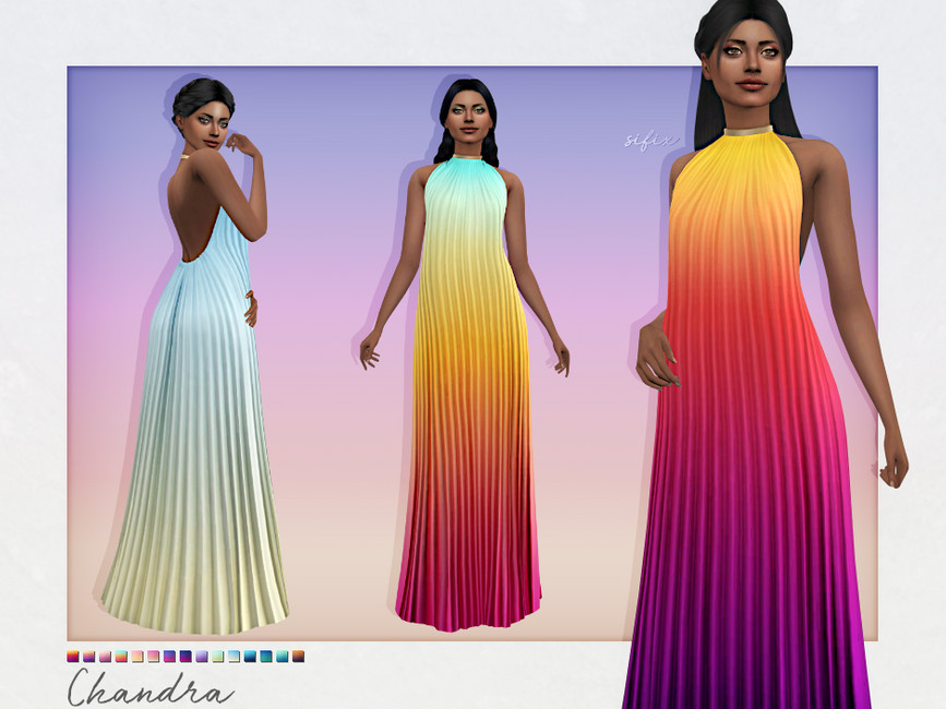 Платье Chandra Dress Симс 4