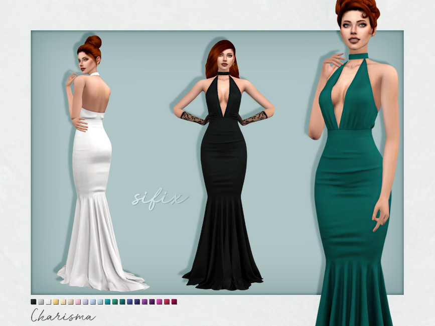 Платье Charisma Dress Симс 4