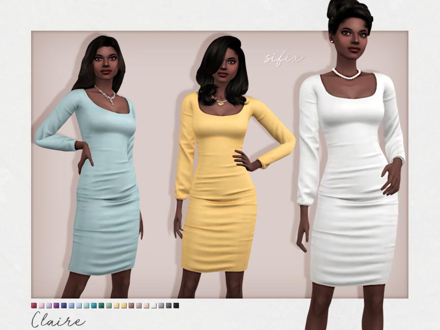 Платье Claire Dress Симс 4