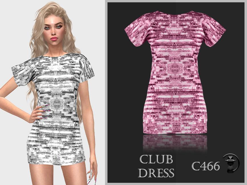 Платье Club Dress C466 Симс 4