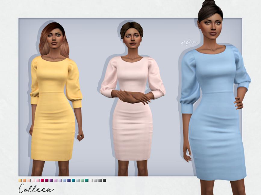 Платье Colleen Dress Симс 4
