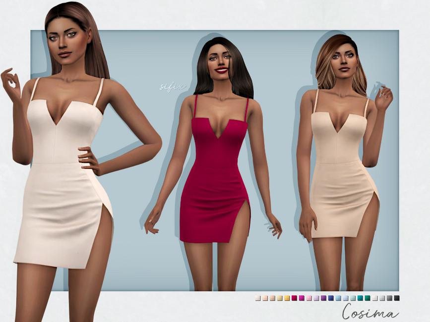 Платье Cosima Dress Симс 4