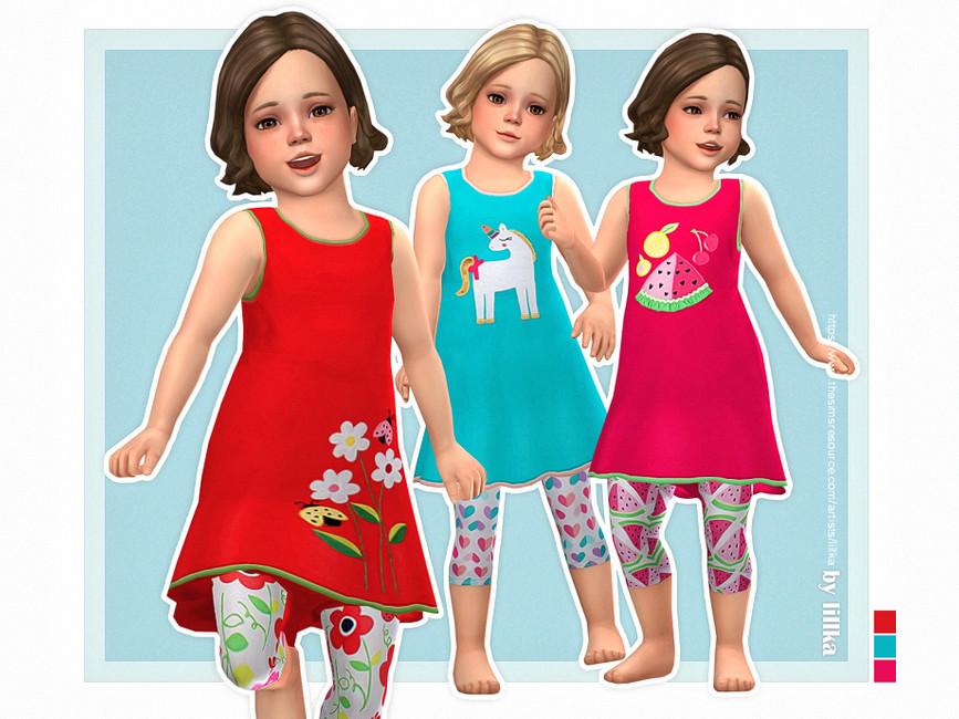 Платье для детей Nala Dress Симс 4
