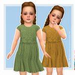 Платье для малышей Isalie Dress Симс 4