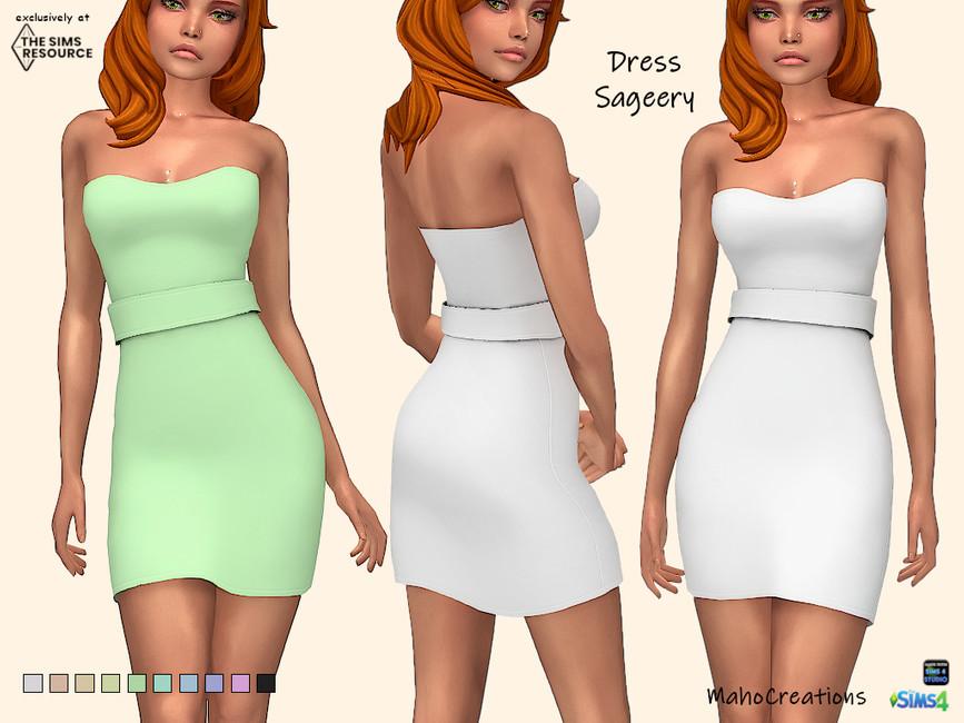 Платье Dress Sageery Симс 4