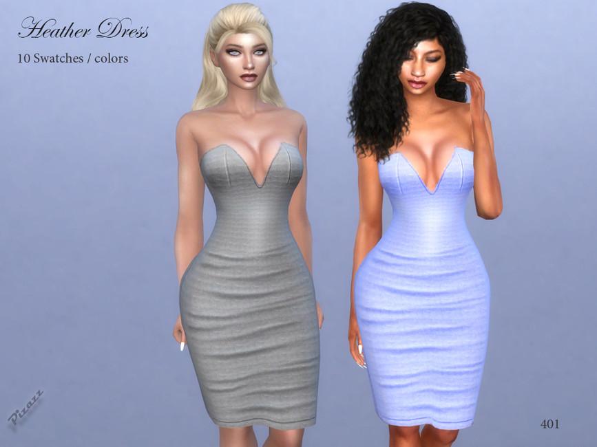 Платье Heather Dress Симс 4
