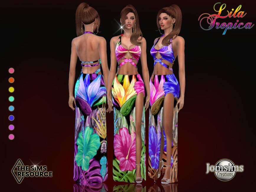 Платье Lila Tropica Dress Симс 4