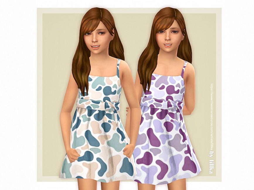 Платье Paula Dress Симс 4