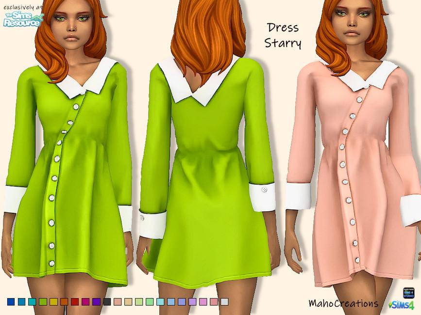 Платье пиджак Симс 4