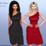 Платье Shoulder Dress Симс 4