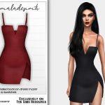 Платье Side Split Panalled Bodycon Dress MC237 Симс 4