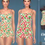 Платье Sweet Floral Super Mini Dress Симс 4