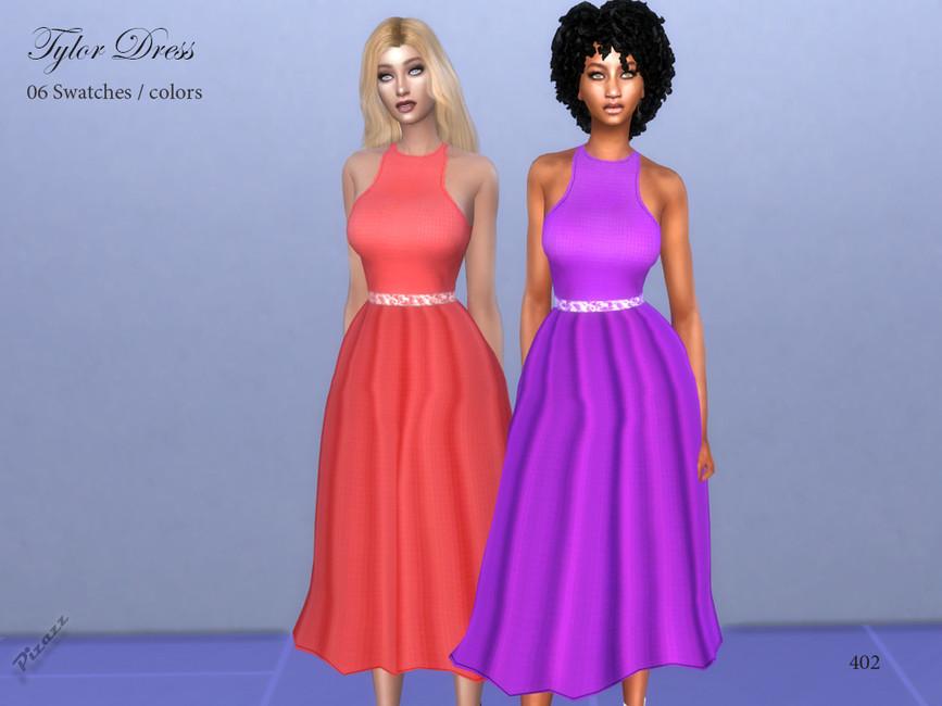 Платье Taylor Dress Симс 4