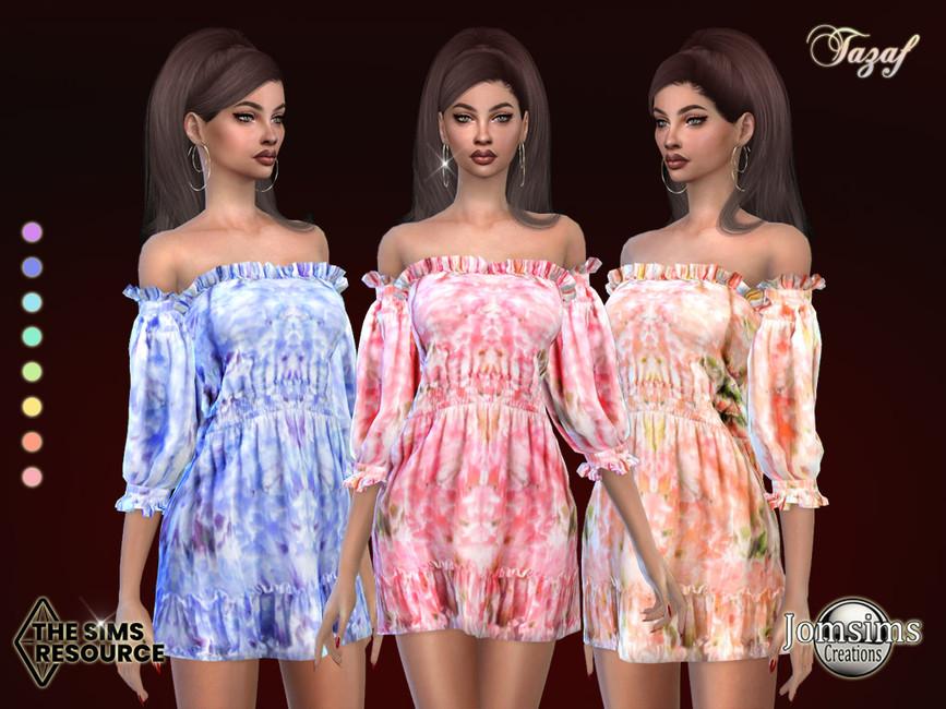 Платье Tazaf Dress Симс 4