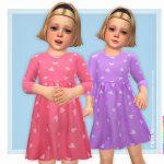 Платья для детей Martha Dress Симс 4