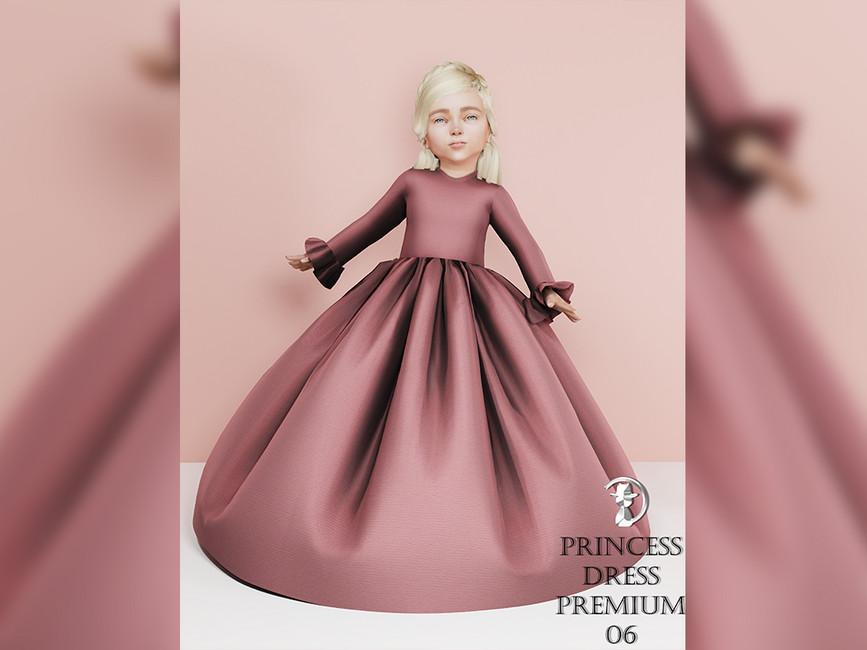 Платья принцесс для девочек Симс 4