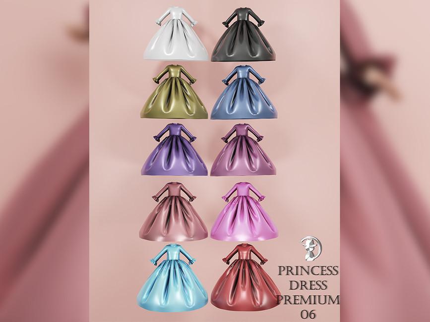 Платья принцесс для девочек Симс 4 (картинка 2)