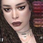 Помада для губ IMF Lyla Lipstick N356 Симс 4