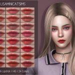 Помада для губ LMCS N86 Lipstick (HQ) Симс 4