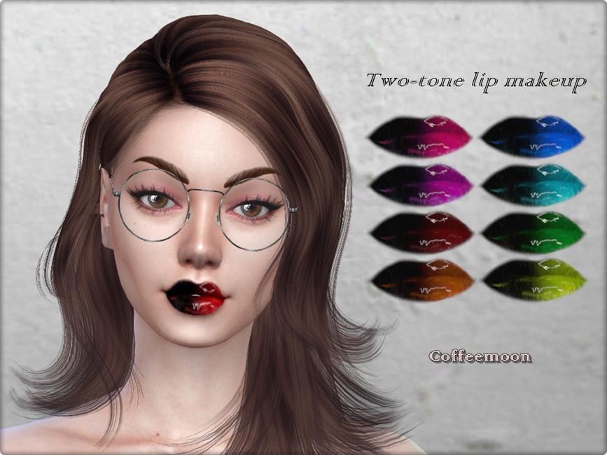 Помада Two-Tone Glossy Lip Makeup Симс 4