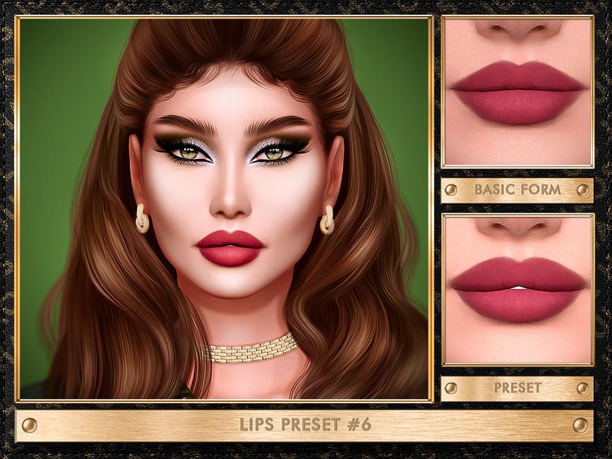 Пресеты губ LIPS PRESET N6 Симс 4