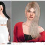 Прическа Belle Hairstyle Симс 4