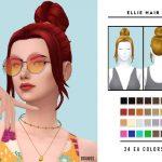 Прическа Ellie Hair Симс 4