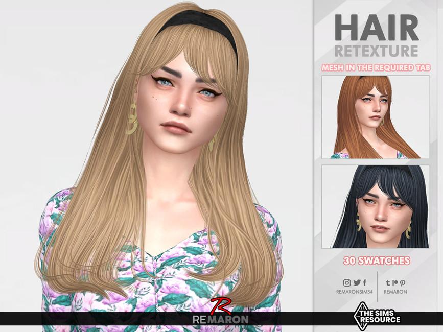 Прическа Madelyn Hair Симс 4