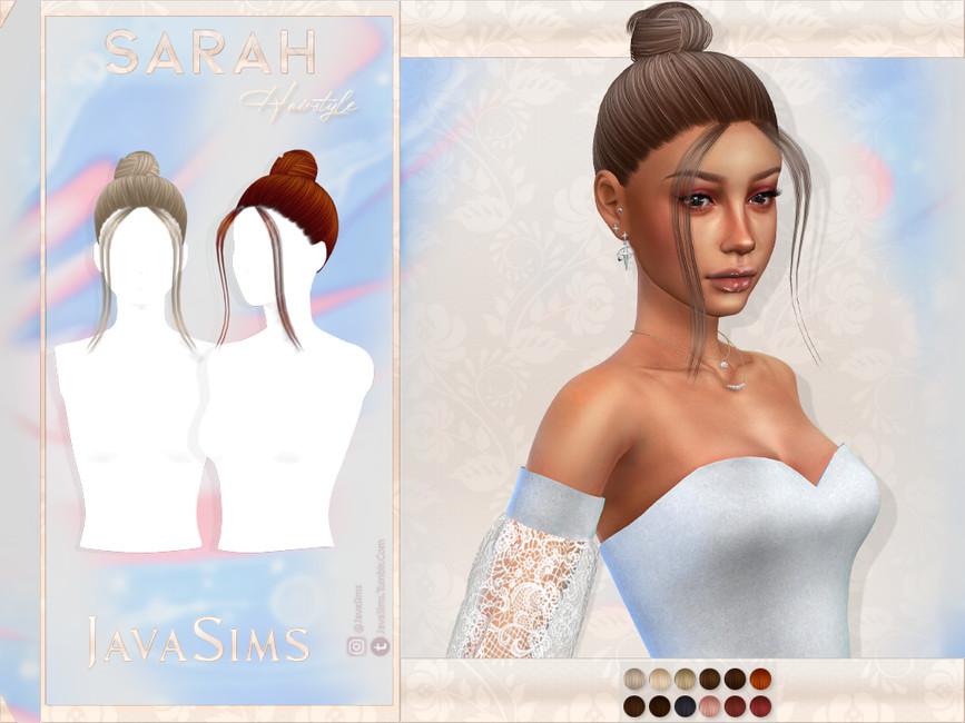 Прическа Sarah (Hairstyle) Симс 4