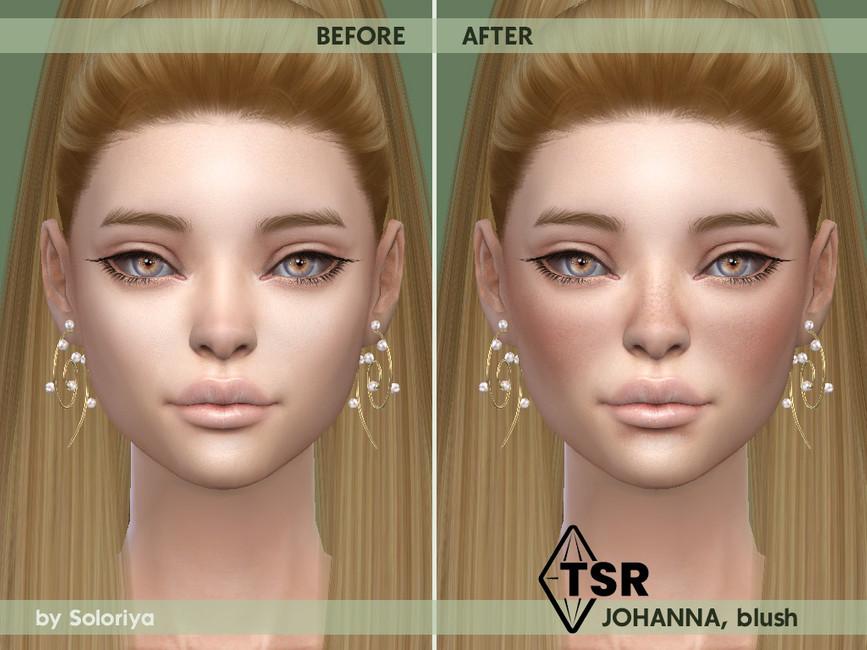 Румяна на нос и щеки Blush Johanna Симс 4 (картинка 2)