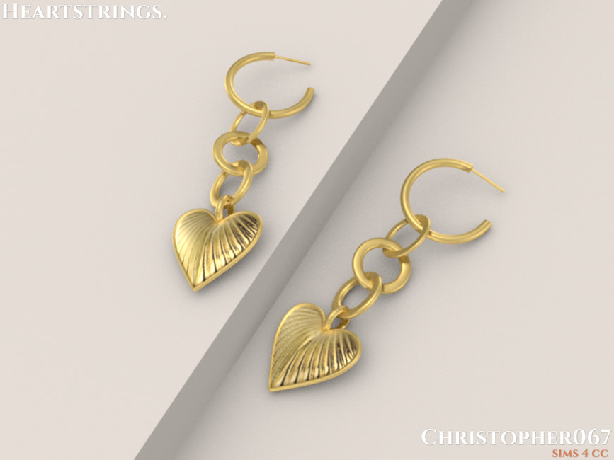 Сережки Heartstrings Earrings Симс 4 (картинка 3)