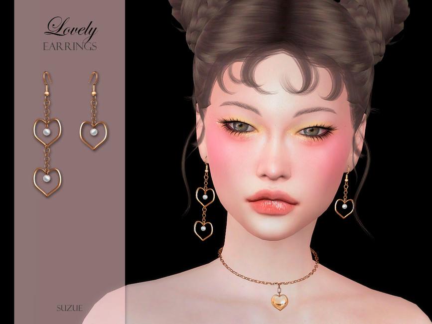 Сережки Lovely Earrings Симс 4