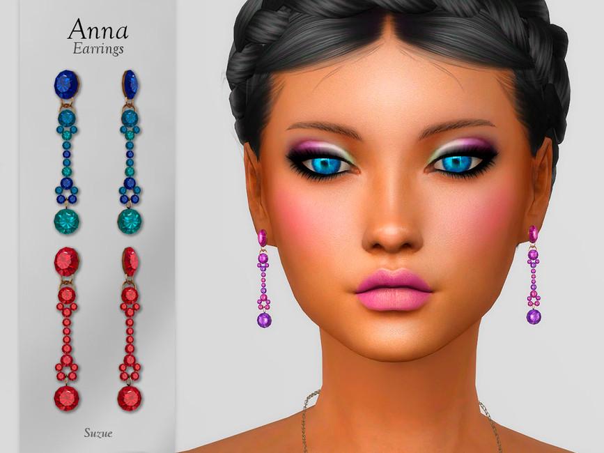 Серьги Anna Earrings Симс 4