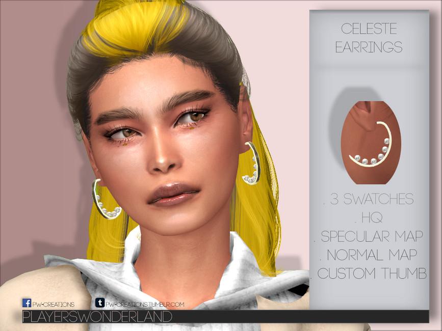 Серьги Celeste Earrings Симс 4