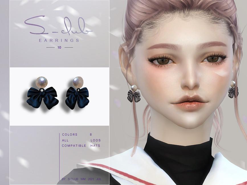 Серьги Cute Pearl Bow Earrings Симс 4