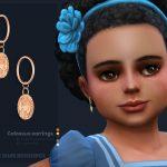 Серьги для детей Colossus Earrings Toddlers Version Симс 4