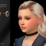 Серьги для детей Diamond Earrings Child Симс 4