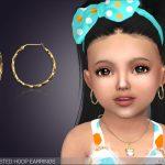 Серьги для детей Reja Twisted Hoop Earrings For Toddlers Симс 4