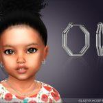 Серьги для малышей Gladys Hoop Earrings For Toddlers Симс 4
