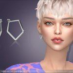 Серьги Marquise Mini Hoop Earrings Симс 4