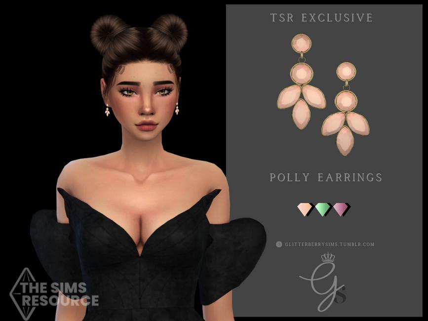 Серьги Polly Earrings Симс 4