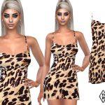 Шелковое платье Симс 4